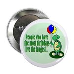 Birthday Turtle Button