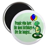 Birthday Turtle Magnet