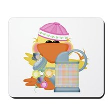 Garden Time Baby Girl Ducky Duck Mousepad