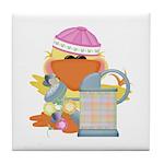 Garden Time Baby Girl Ducky Duck Tile Coaster