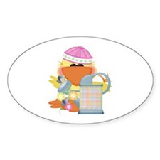 Garden Time Baby Girl Ducky Duck Oval Decal