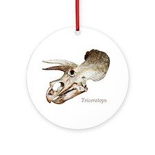Triceratops Skull Ornament (Round)
