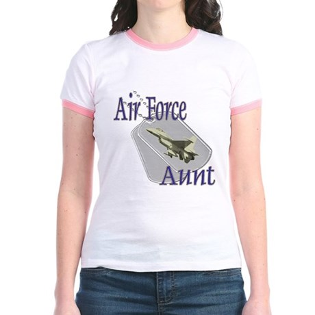 Jet Air Force Aunt Jr. Ringer T-Shirt