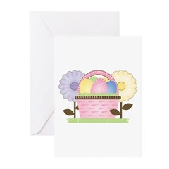 Cute Chick with Easter Basket Greeting Cards (Pk o