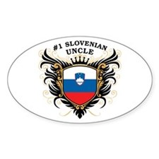 Number One Slovenian Uncle Oval Decal