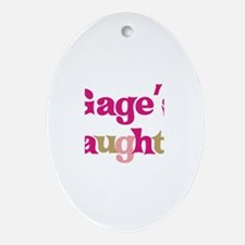 Gage's Daughter Oval Ornament