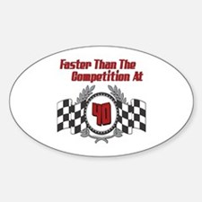 Racing At 40 Oval Decal