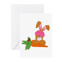 Cute Bunny With Carrot Greeting Cards (Pk of 20)