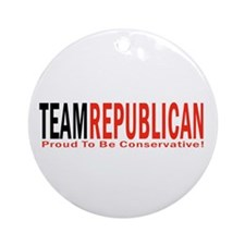 Team Republican - Proud To Be Ornament (Round)