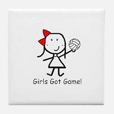 Volleyball - Girls Got Game Tile Coaster