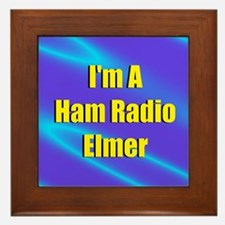 Ham Radio Elmer Framed Tile