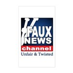 Faux News Rectangle Sticker