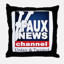 Faux News Throw Pillow