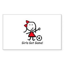 Soccer - Girls Got Game Rectangle Decal