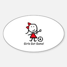Soccer - Girls Got Game Oval Decal