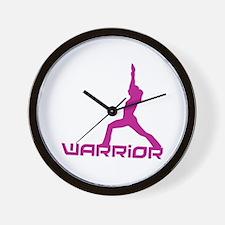 YOGA WARRIOR Wall Clock