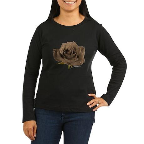 Sand Rose Women's Long Sleeve Dark T-Shirt