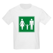 Restroom Family Sign T-Shirt