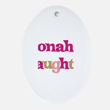Jonah's Daughter Oval Ornament