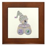 Butterfly Kisses Teddy Bear Framed Tile