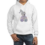Butterfly Kisses Teddy Bear Hooded Sweatshirt
