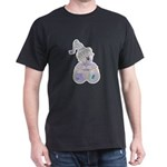 Butterfly Kisses Teddy Bear Dark T-Shirt