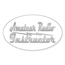 Amateur Radio Instructor Oval Decal
