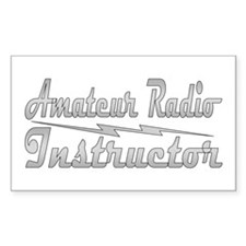 Amateur Radio Instructor Rectangle Decal