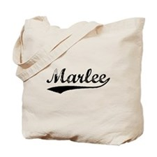 Vintage Marlee (Black) Tote Bag