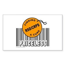 RSD/CRPS FINDING A CURE Rectangle Decal