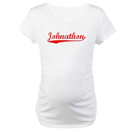 Vintage Johnathon (Red) Maternity T-Shirt