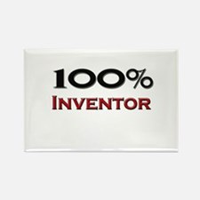 100 Percent Inventor Rectangle Magnet