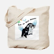 Cats Are Reiki Magnets Tote Bag