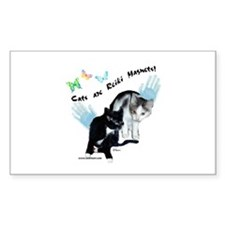 Cats Are Reiki Magnets Rectangle Decal