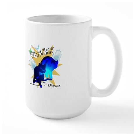 Cat Reiki Master Large Mug