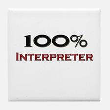 100 Percent Interpreter Tile Coaster