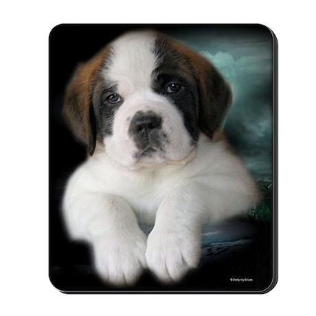 Saint Bernard Puppy Mousepad