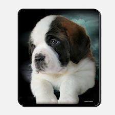 Saint Bernard Pup Mousepad