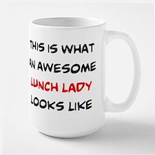 awesome lunch lady Large Mug