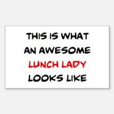awesome lunch lady Sticker (Rectangle)