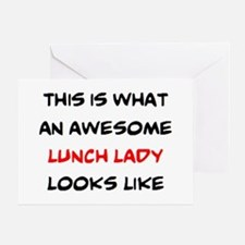 awesome lunch lady Greeting Card