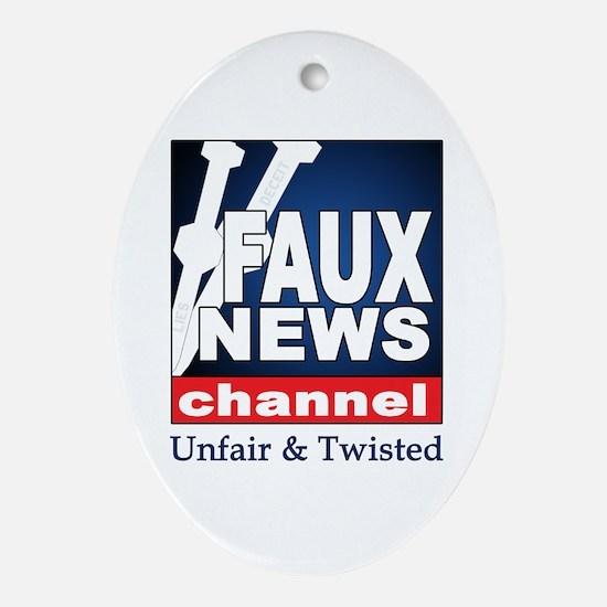 FAUX NEWS Keepsake (Oval)