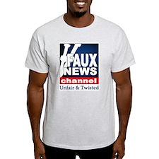FAUX NEWS Ash Grey T-Shirt