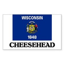 Cheesehead Rectangle Decal