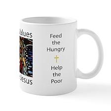 Liberal Values Just Like Jesus Mug