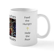 Jesus Teaches Liberal Values Mug