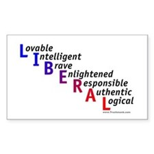 Take Back the Word Liberal Rectangle Decal