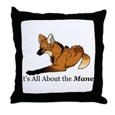 Maned Wolf - The Mane Throw Pillow