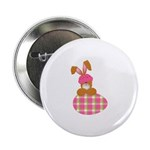 Cute Bunny With Plaid Easter Egg 2.25