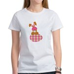 Cute Bunny With Plaid Easter Egg Women's T-Shirt